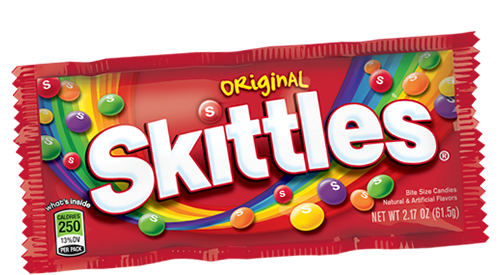 Skittles transparent clear. Presentation name on emaze