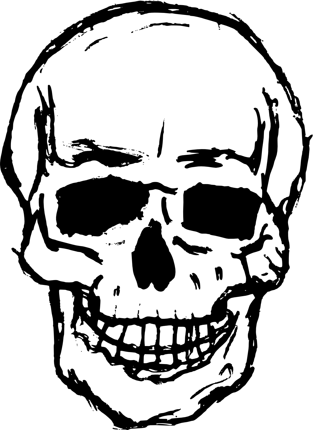 Drawing medium skull. Skulls png image purepng