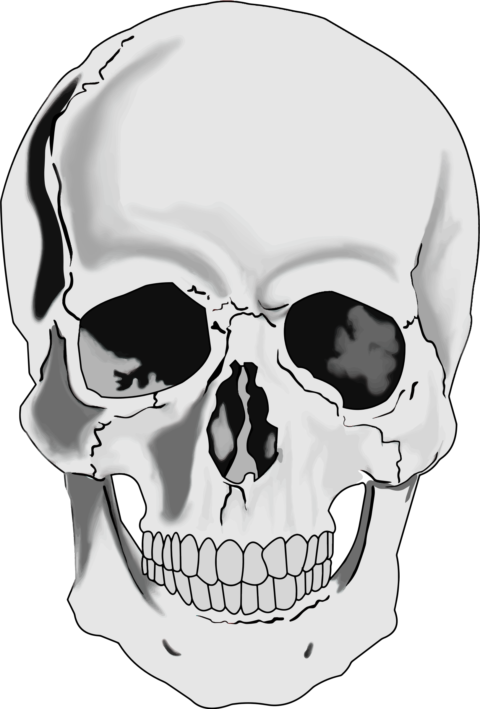 Hooded drawing skeleton