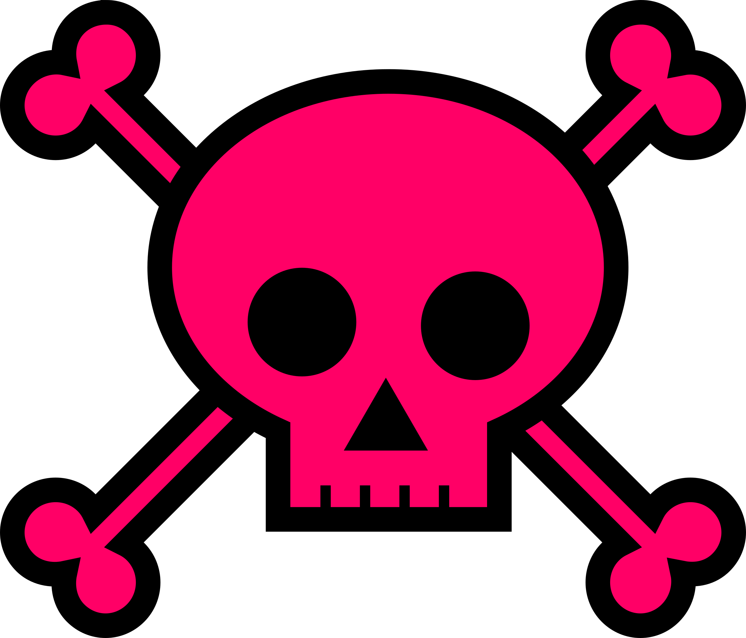 Pink skull png. Clipart and crossbones large