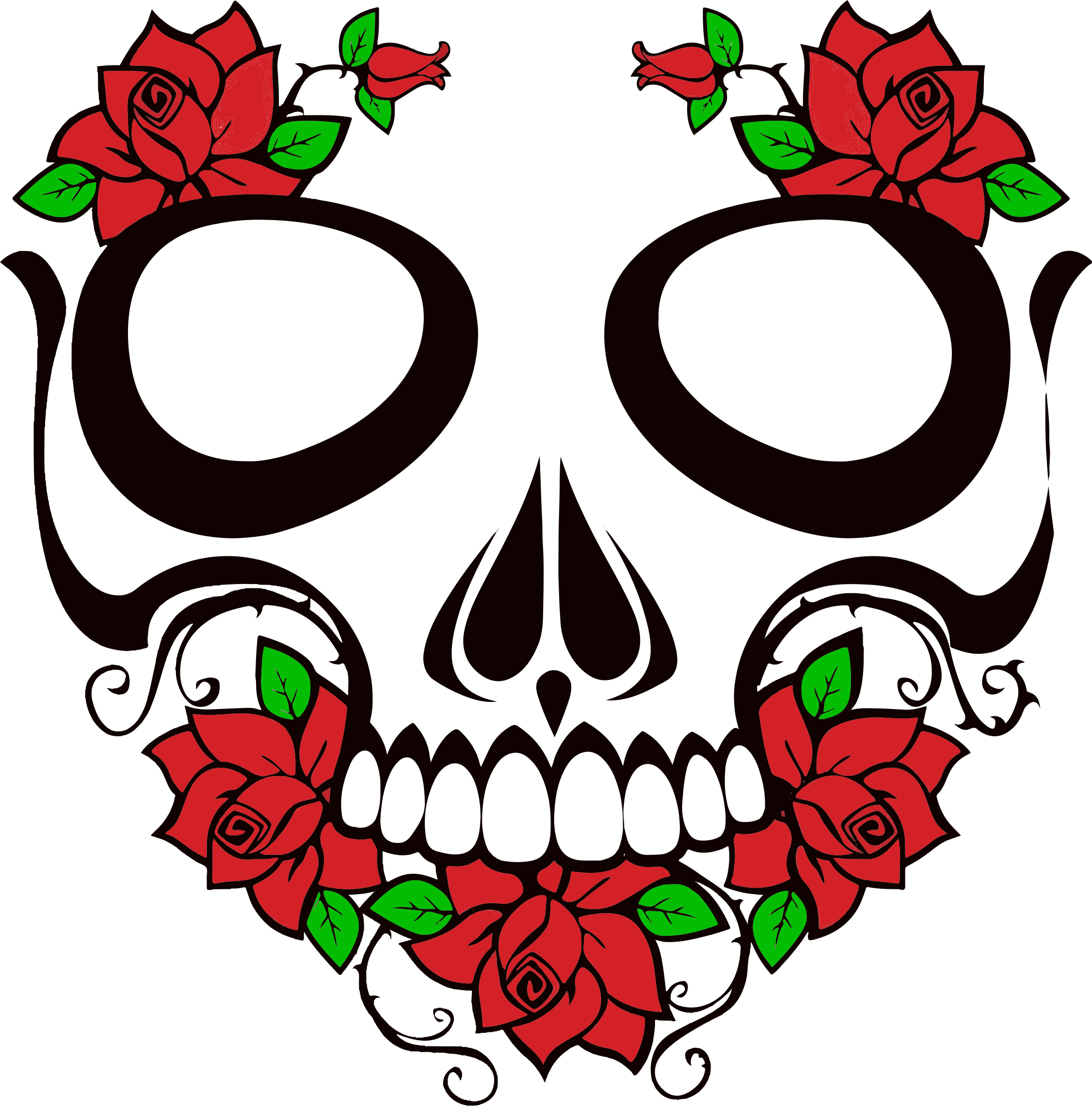Free transparent skull cliparts. Rosas vector rose picture transparent library