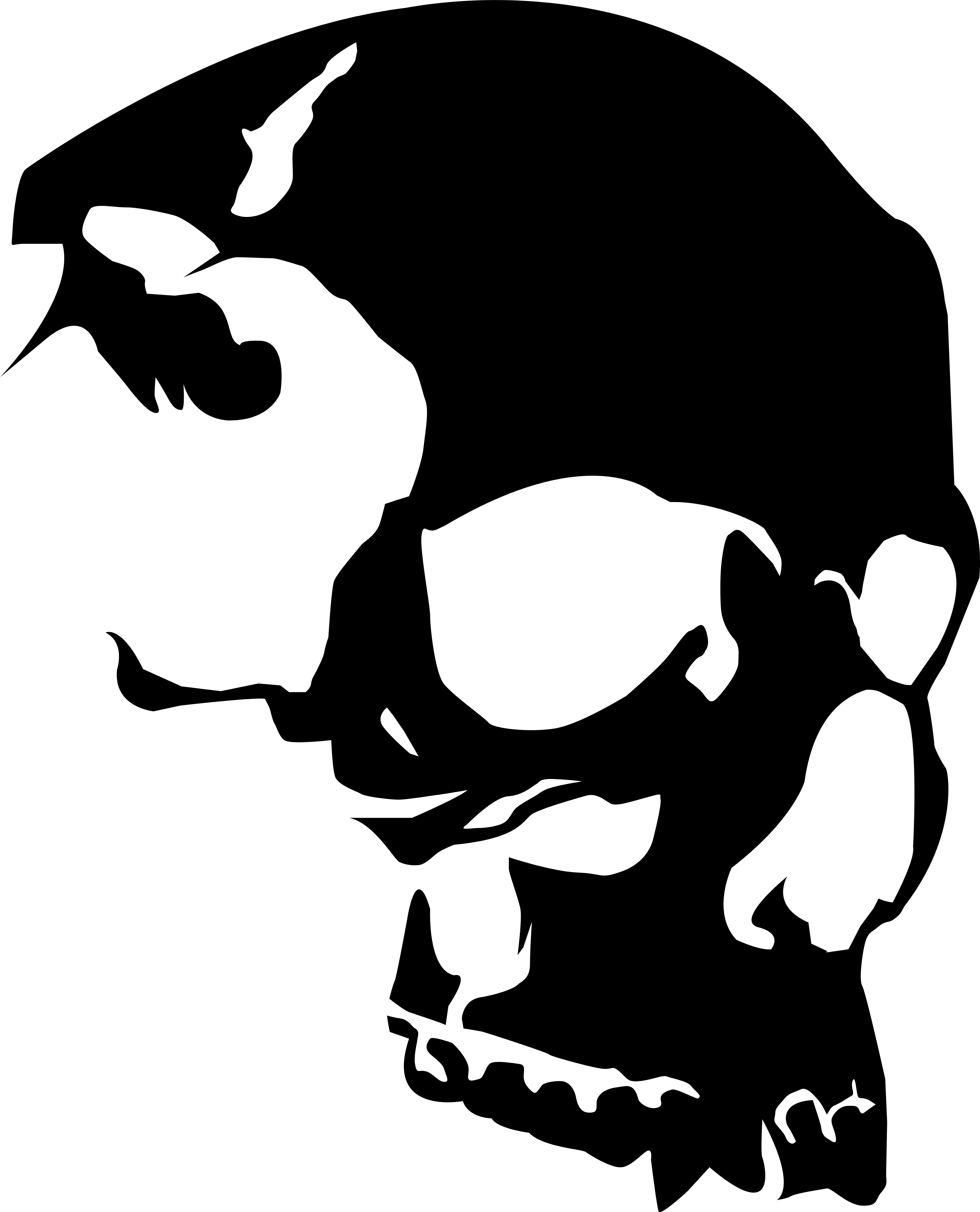 Skull clipart best pirates. Stencil vector clipart freeuse download