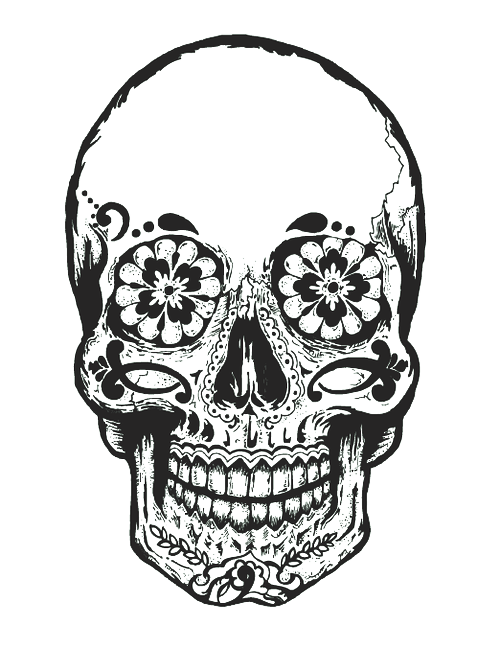 Mindfulness Drawing Sugar Skull Transparent Png Clipart Free