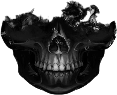 Skull face png. Skullface sticker by nila