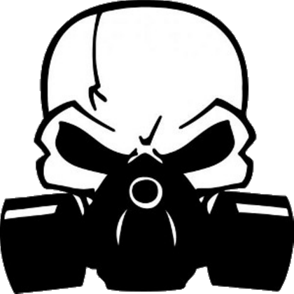Skull gas mask png. W car decal roblox