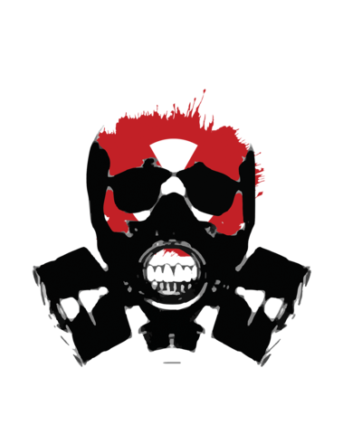 Skull gas mask png. Apocalyptic versions tagged tees
