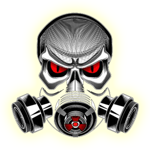 Skull gas mask png. Personal protective equipment headgear