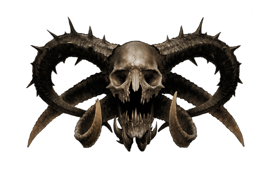 Horns vector skull. Diabolical png by shadow