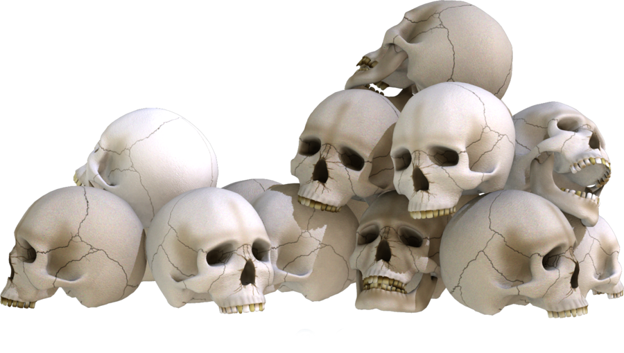 Skull png stock. Piles by kungfufrogmma on