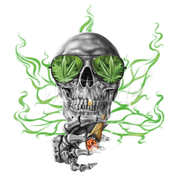 Skull smoke png. With glasses smoking the