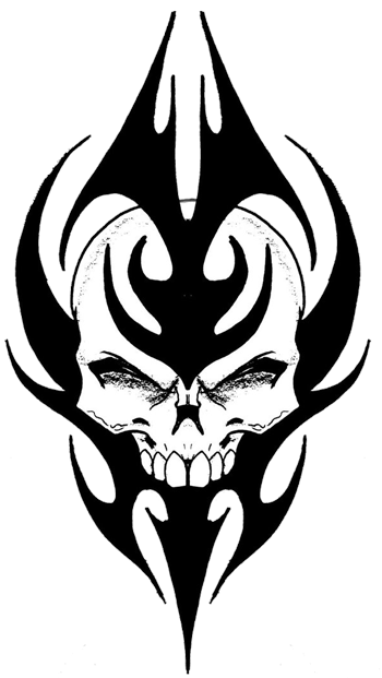 Tribal transparent skull. Tattoos png pictures free