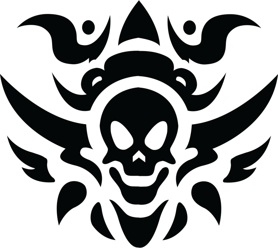 Tribal transparent background. Skull tattoo png stickpng