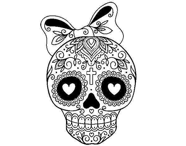Skull trooper clipart coloring sheet. Caveira mechicanas colouring pages