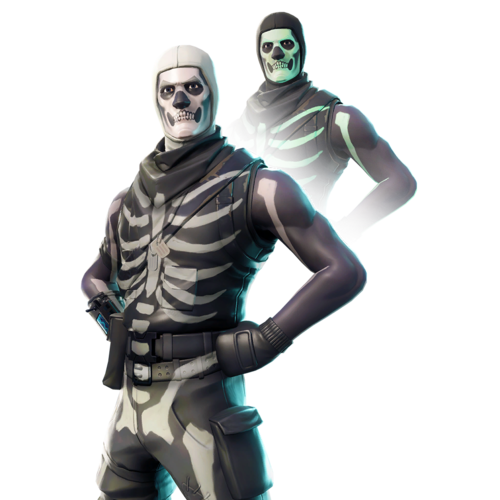 Skull trooper clipart real life. Returns to fortnite battle