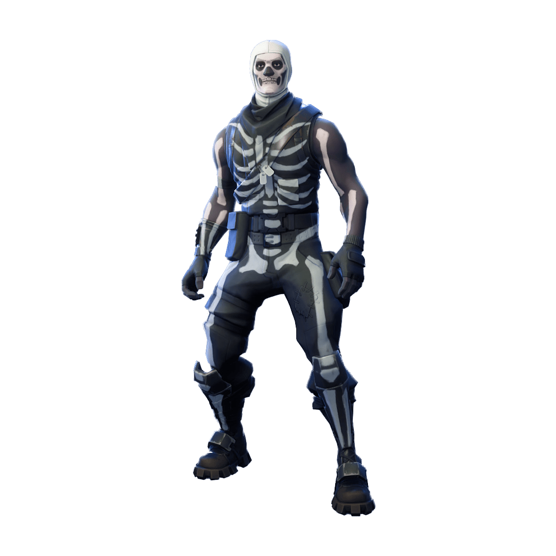 Fortnite skin www picturesso. Skull trooper clipart face black and white library