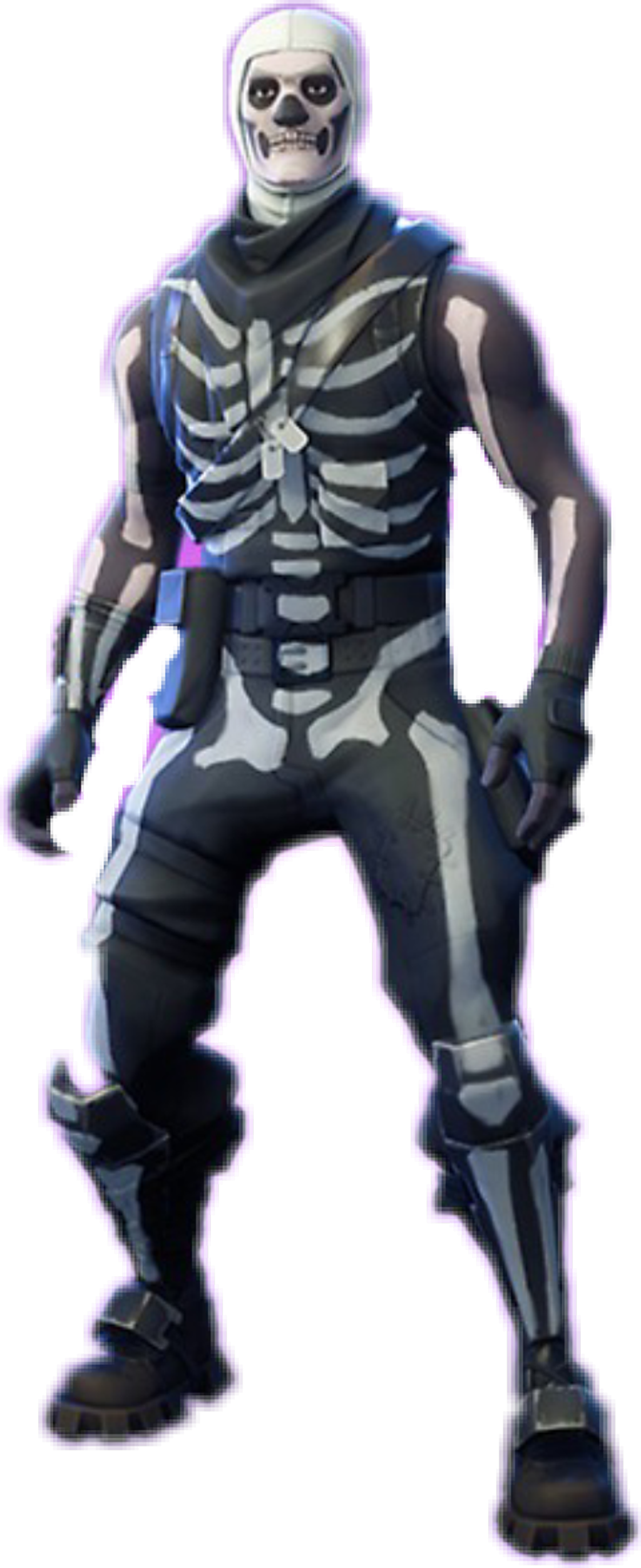 Skull trooper clipart 1080p. Fortnite skin sticker by