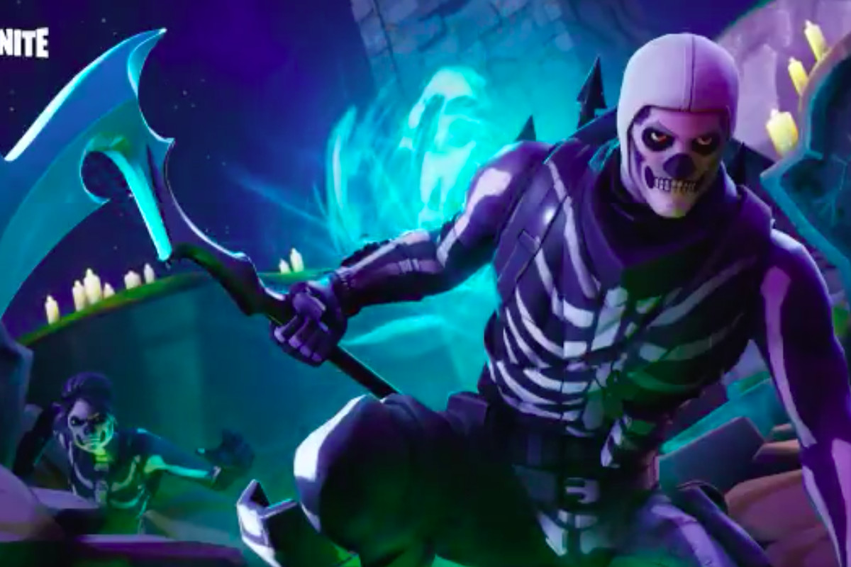 Skull trooper png rare skin. Fortnite s mania shows