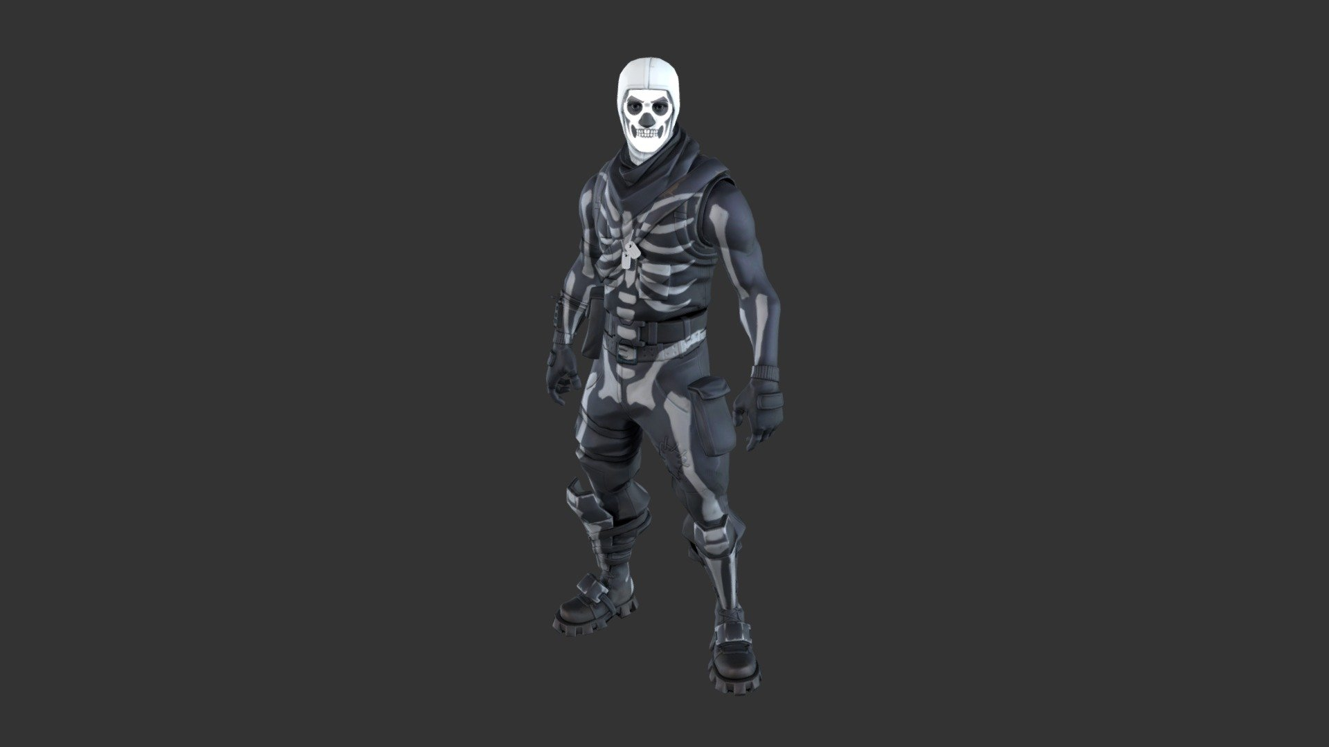 Skull trooper png free. Outfit d model by