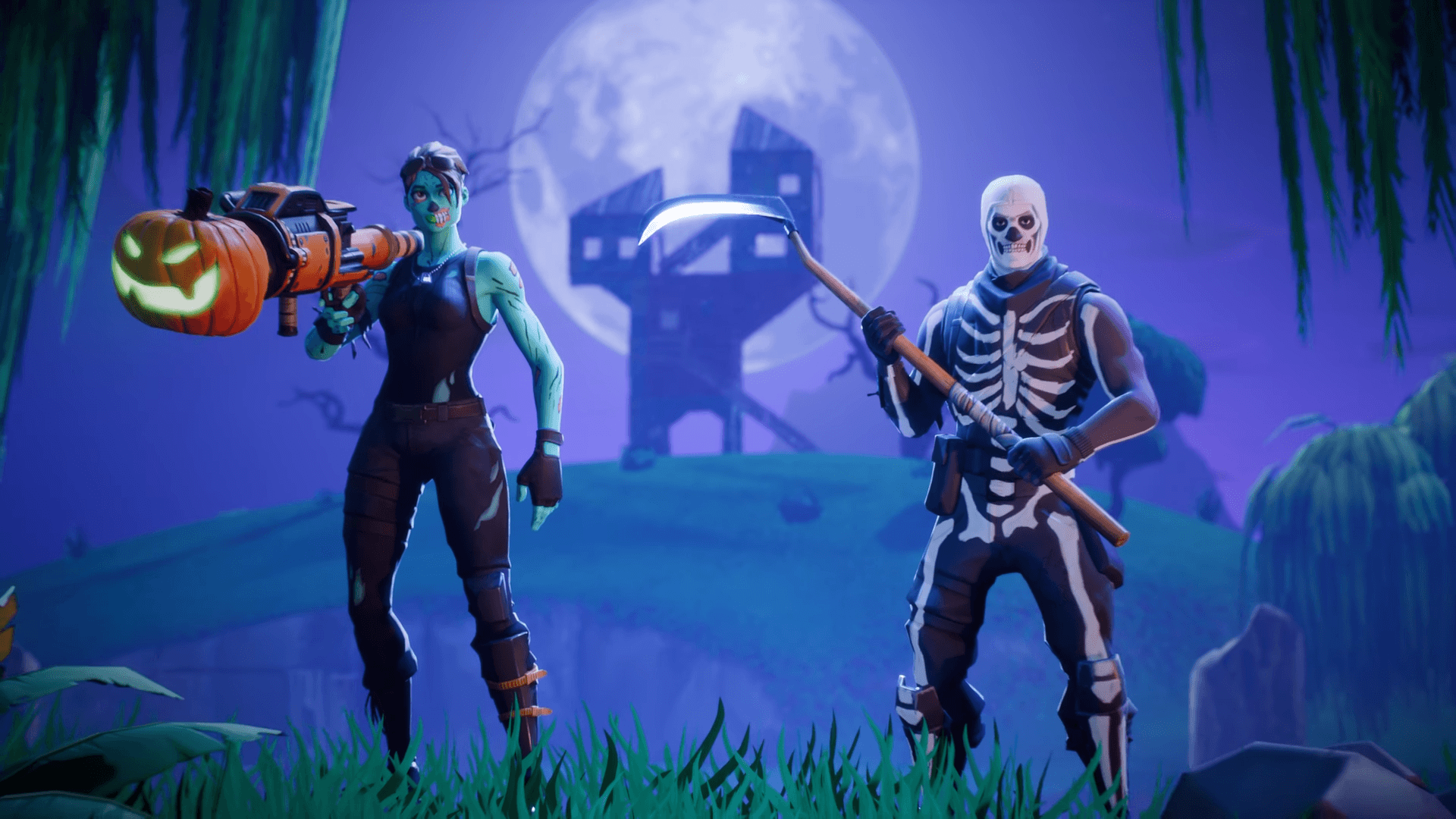 Skull trooper png loading screen. Fortnite costume returns with