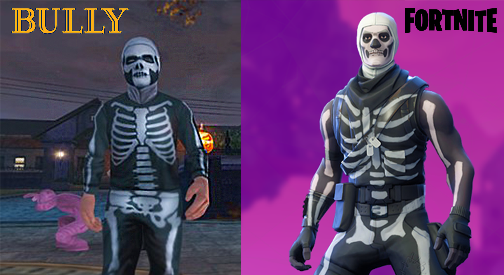 Skull trooper png real life. Who wore it better