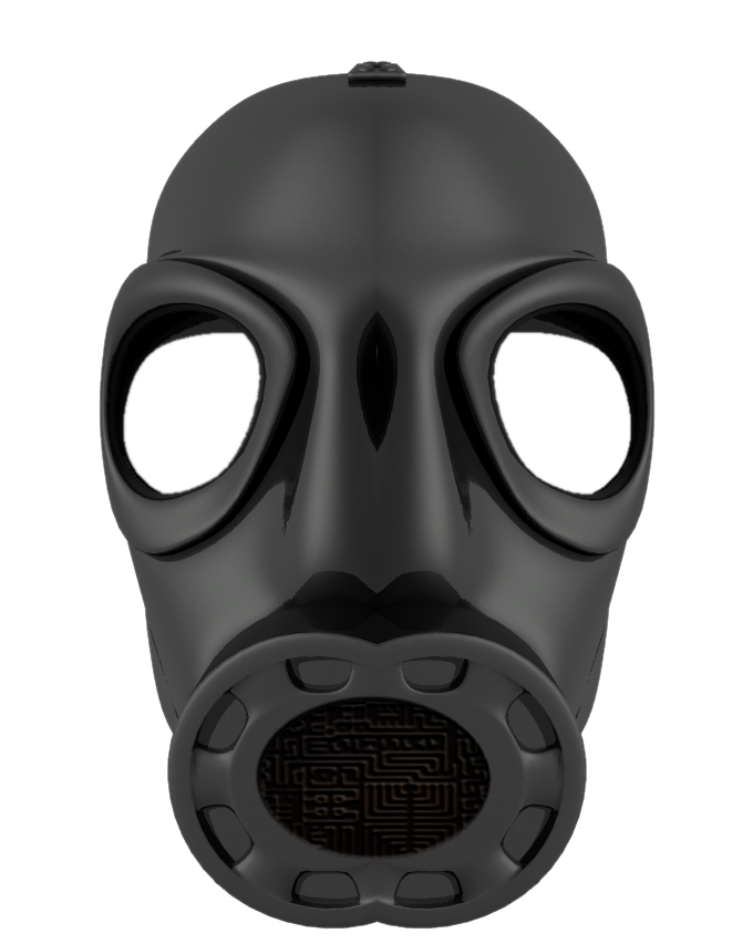 Skull with gas mask png. Stock by mysticmorning on