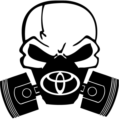 Skull with gas mask png. Toyota decals drew s