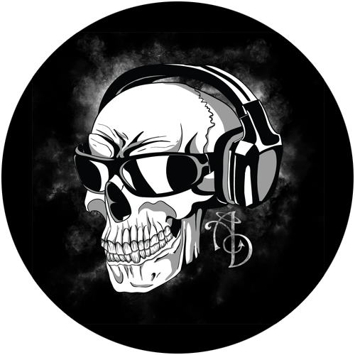 skull with headphones png