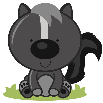 Skunk clipart svg. Baby cutting files for