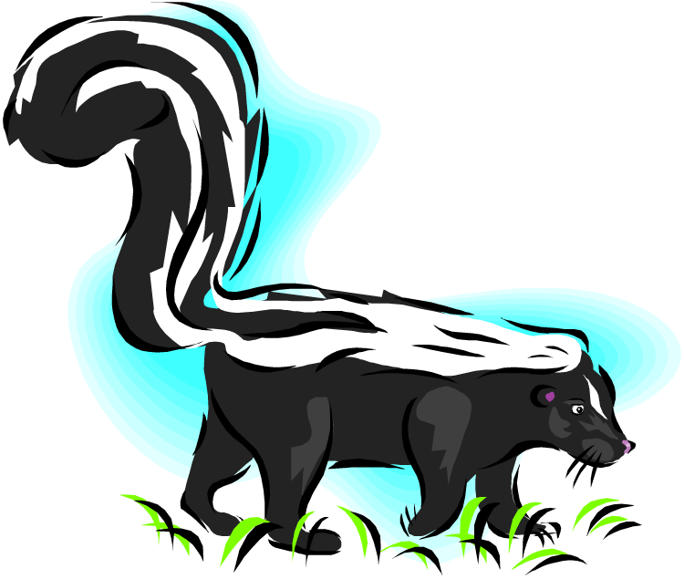 Skunk vector free clip art. Banner library download