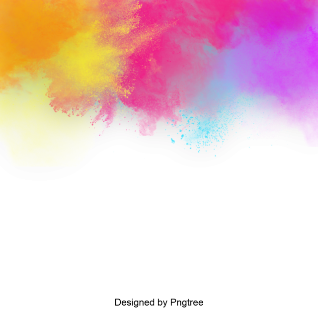 Colorful splatter paint splash. Background png banner library stock