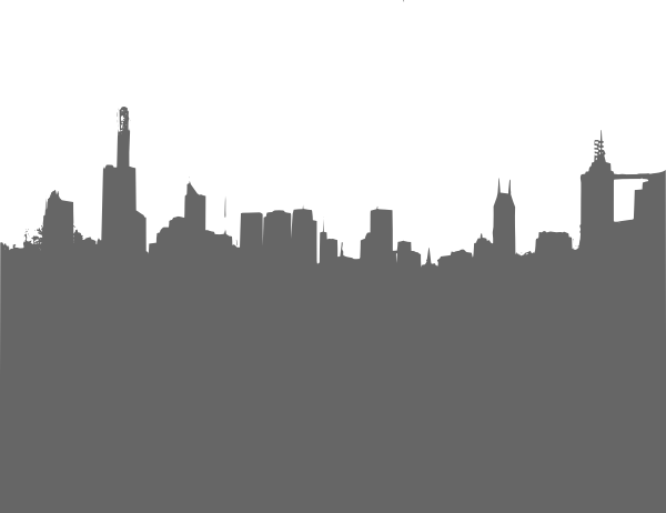 City clipart city landscape. Gray skyline clip art