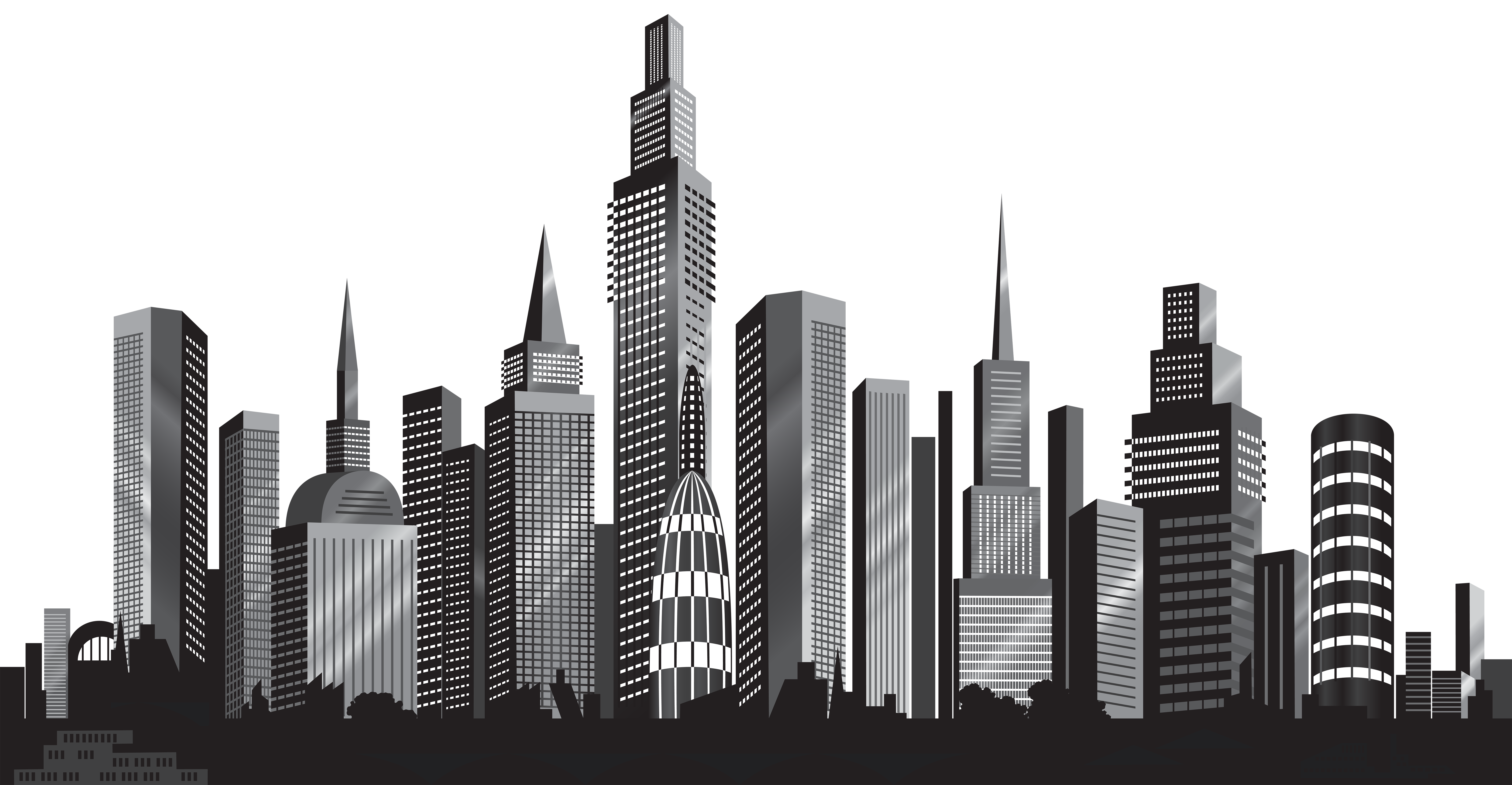 Cityscape silhouette png clip. Cities drawing landscape graphic free library