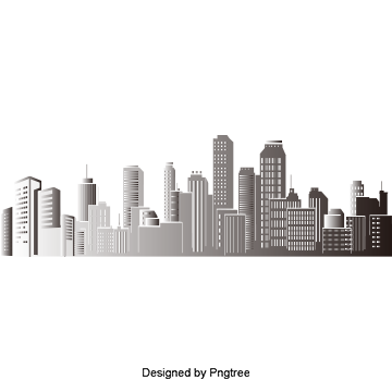 Building silhouette png. City vectors psd and