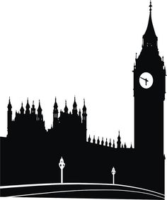 skyline clipart clock london