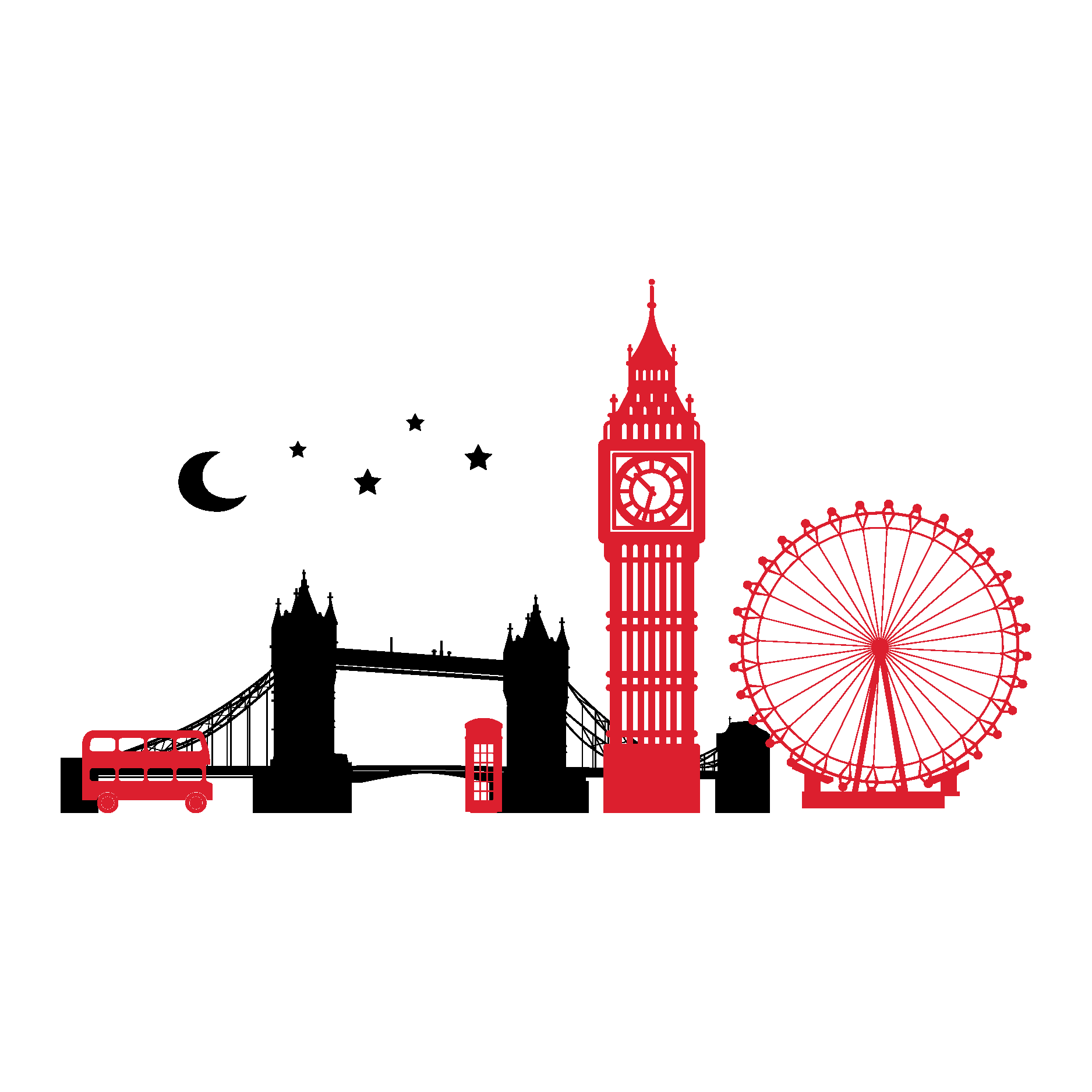 Skyline clipart clock london. Tattoos google search pinterest
