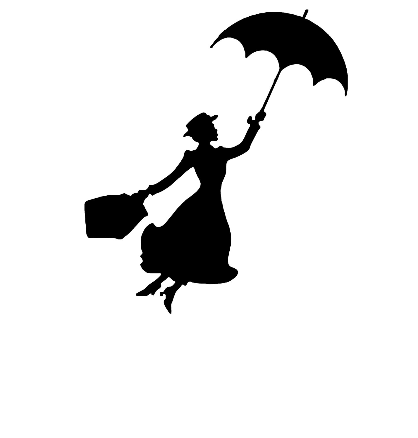 Skyline clipart mary poppins. Silhouette images at getdrawings