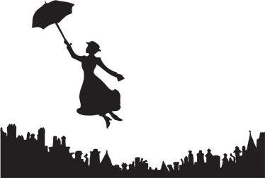 Skyline clipart mary poppins. Sticker decorativo for the