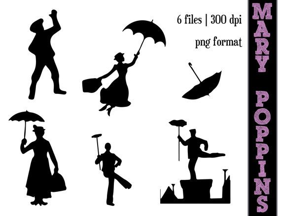 Skyline clipart mary poppins. Silhouettes a spoonful of