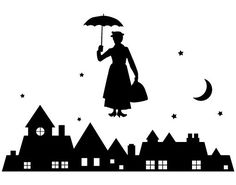 Skyline clipart mary poppins. Silhouettes including london parties