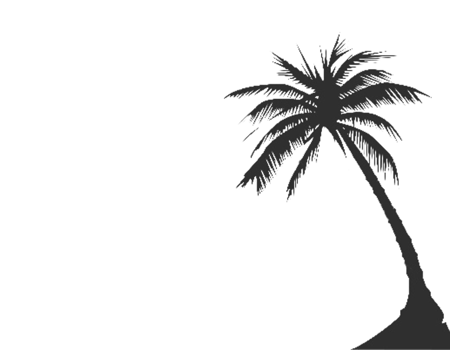 Palm tree black and white png. Free silhouette download clip