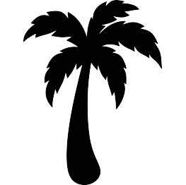Coconuts vector pdf. Palm tree leaf silhouette