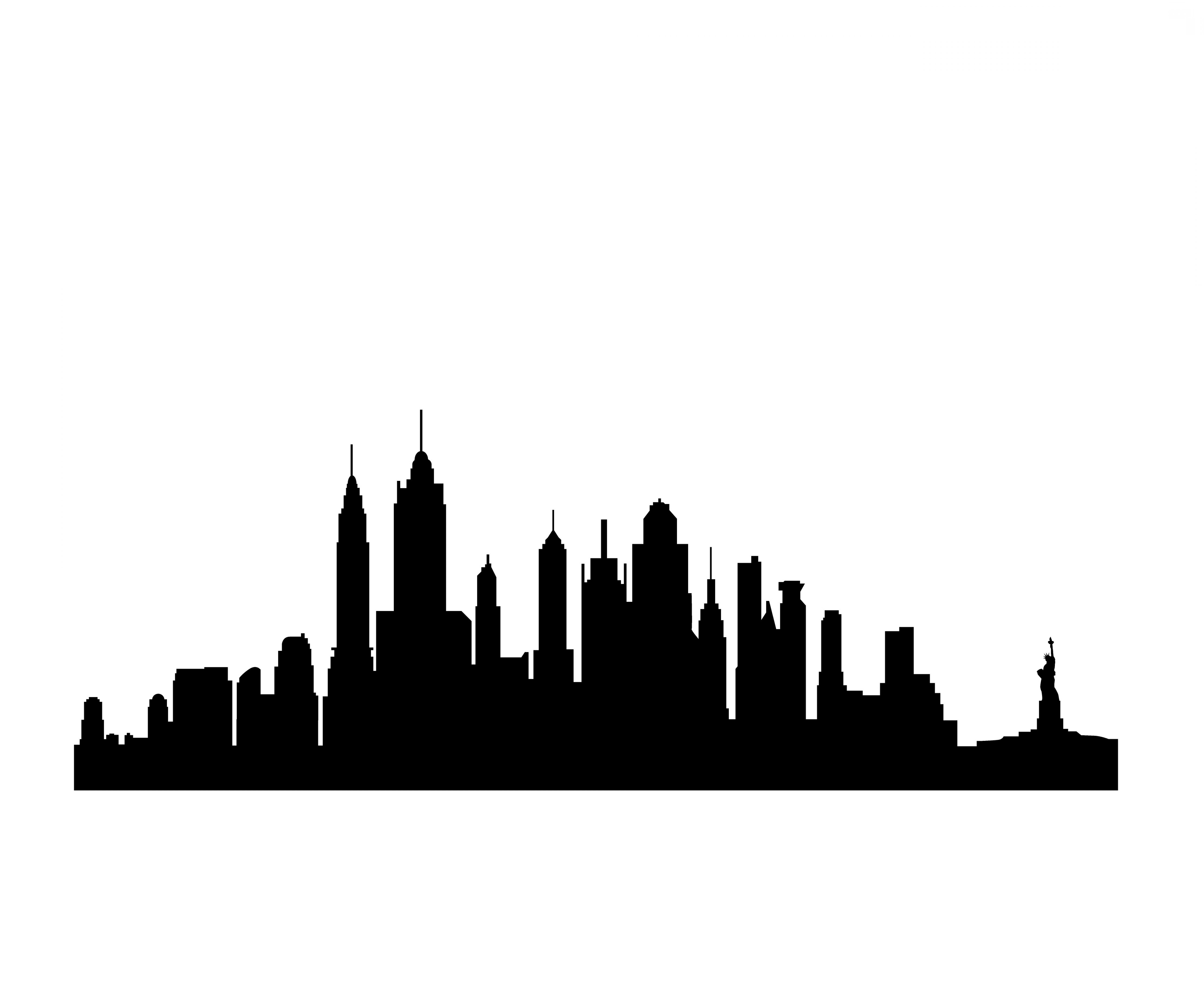 Skyline clipart skyline buffalo. Ny silhouette at getdrawings