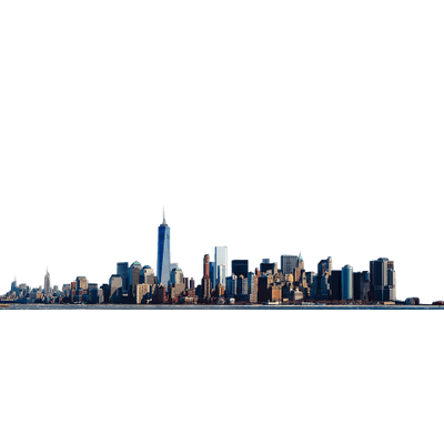 Skyline transparent architectural. New york png stickpng