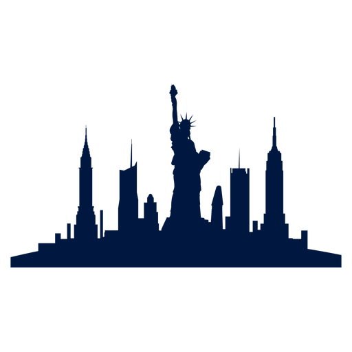 Skyline transparent cartoon. New york city png