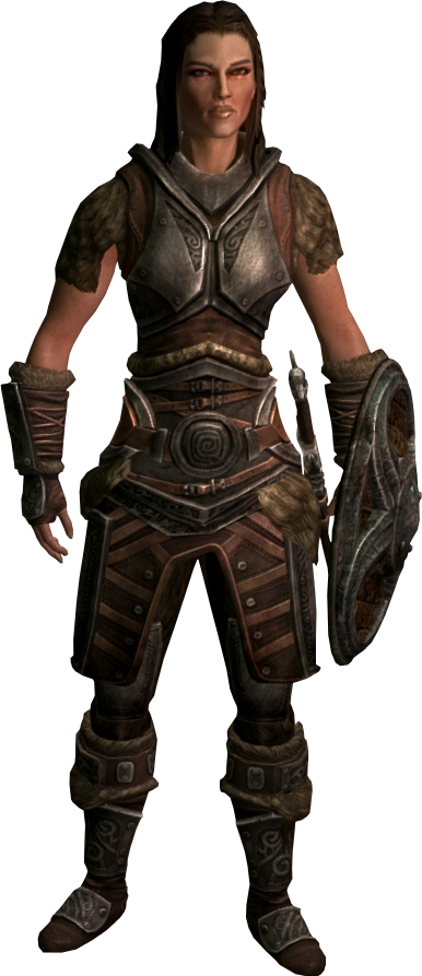 Skyrim character png. Image lydia elder scrolls clipart free