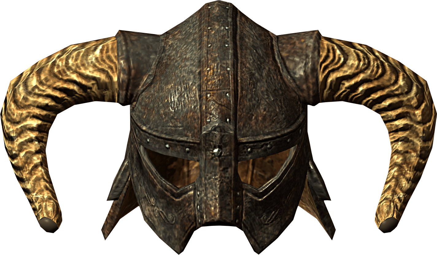 Skyrim helmet png. Elder scrolls close up
