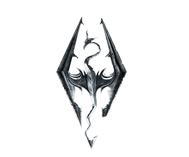 Skyrim logo png. By drakonias on deviantart