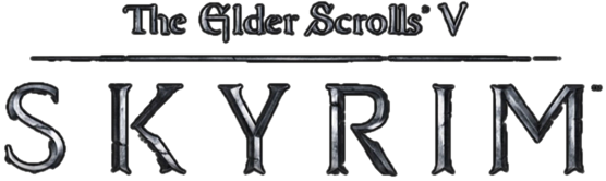 Skyrim logo png. The elder scrolls transparent