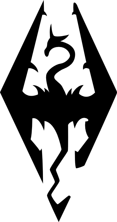 Skyrim logo png. Vector by theqz unique