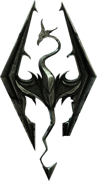 Skyrim logo png. Transparent by gohraw on
